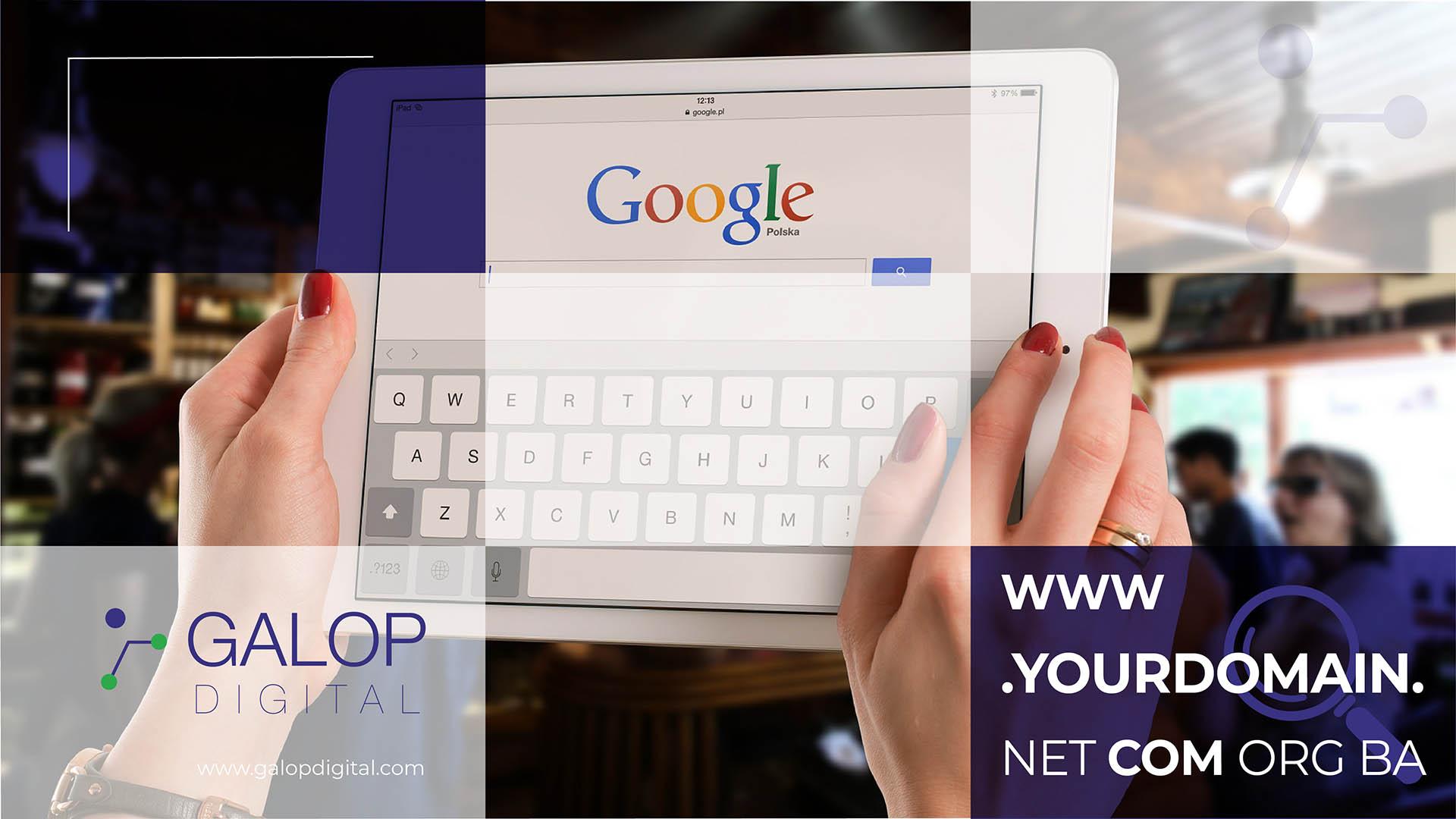 Odabir domene za web stranicu - Galop Digital